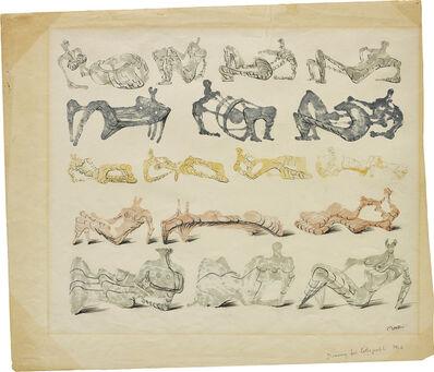 Henry Moore, 'Seventeen Reclining Figures', 1962
