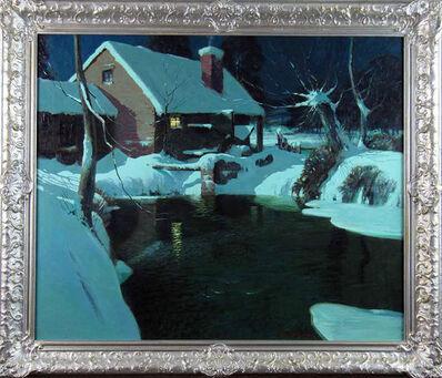 George Ames Aldrich, 'Moonlit Cottage in Winter', ca. 1910