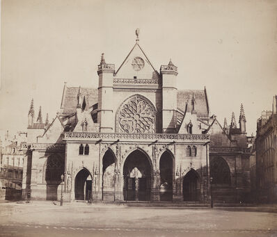 Gustave Le Gray, 'Church of Saint-Germain-l'Auxerrois, Paris', 1857/58