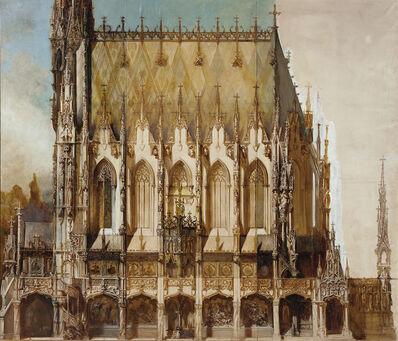 Hans Makart, 'Gotische Grabkirche St. Michael, Lateral View', 1883