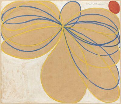 Hilma af Klint, 'Group V, The Seven-Pointed Star, No. 1n (Grupp V, Sjustjärnan, nr 1),  from The WUS/Seven-Pointed Star Series (Serie WUS/Sjustjärnan)', 1908