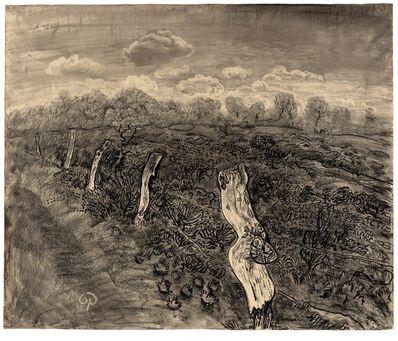 Otto Pankok, 'Landschaft mit Holzpfählen', 1930-1940