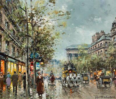 Antoine Blanchard, 'Boulevard de la Madeleine, Paris'