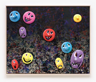 Kenny Scharf, 'Face Facts #8', 2014