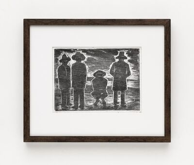 Oswaldo Goeldi, 'Homens Na Praia', ca. 1957