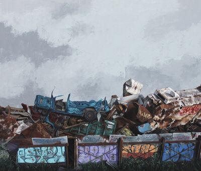 Moisés Jácome, 'Barda con grafitis', 2019