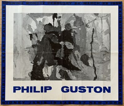 Philip Guston, 'Original Sidney Janis Gallery Exhibition Poster', 1958