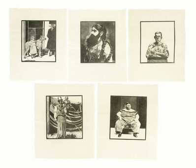 Peter Blake, 'Side-Show (portfolio of five woodcut prints)', 1974-1978