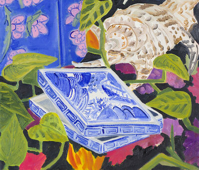 Anna Valdez, 'Blue Ceramic with Shell', 2018