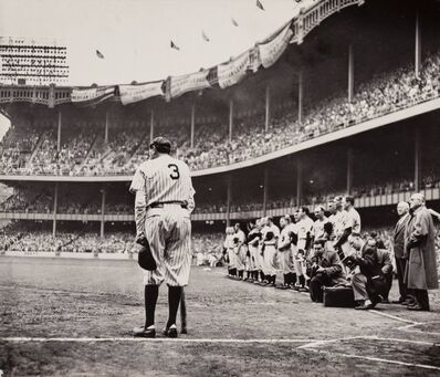 Nat Fein, 'The Babe Bows Out (Babe Ruth)', 1948