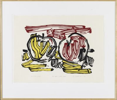 Roy Lichtenstein, 'Red Apple and Yellow Apple unique exhibition proof', 1982