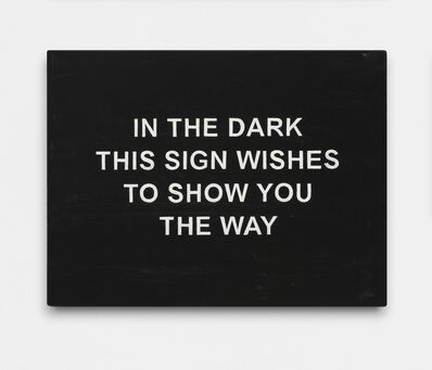 Laure Prouvost, 'IN THE DARK THIS SIGN WISHES TO SHOW YOU THE WAY', 2016