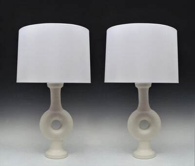 Suzanne Ramie, 'Pair of Annulaire Vase Lamps', ca. 1960