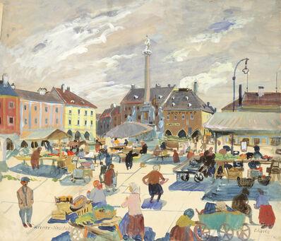 Oskar Laske, 'Market in Wiener Neustadt', 1929