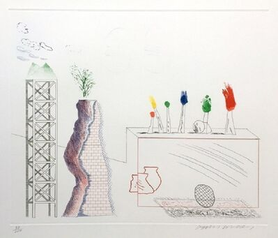 David Hockney, 'A Tune (signed)', 1976-77