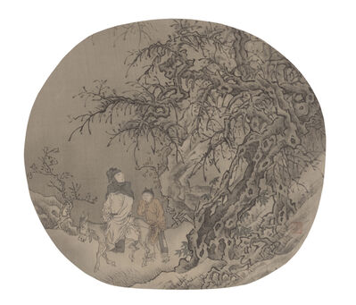 Yau Wing Fung 邱榮豐, 'Urging on a horse in winter forest', 2014