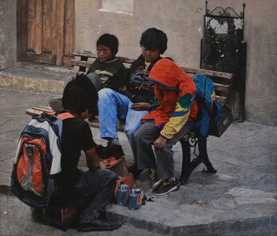 François Chevalier, 'les petits cireurs aux chaussures cirées', 2015