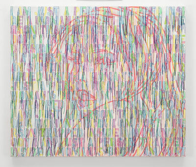 Ghada Amer, 'PORTRAIT OF A GIRL IN WHITE-RFGA', 2014