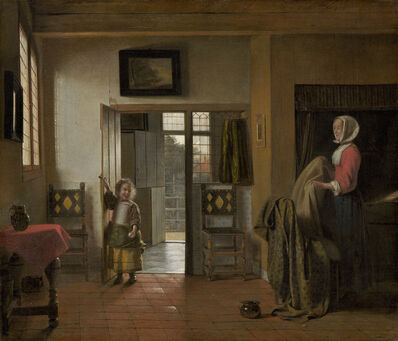Pieter de Hooch, 'The Bedroom', 1658/1660