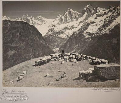 Albert Steiner, 'Graubunden. Landschaft bei Soglio - Bergell (Landscape of Soglio, Swiss Alps)', ca. 1930