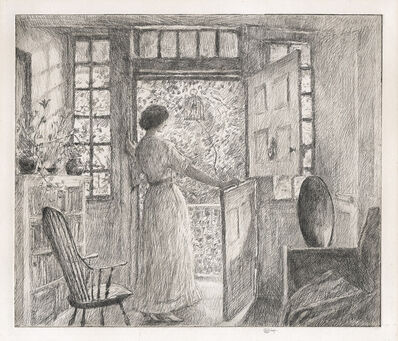 Childe Hassam, 'The Dutch Door.', 1915