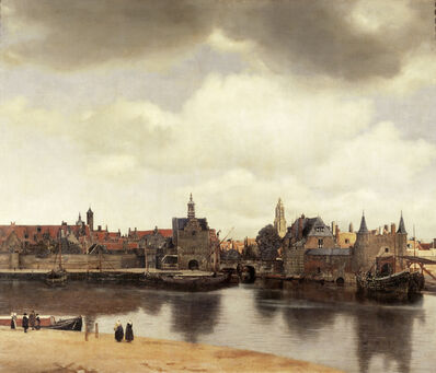 Johannes Vermeer, 'View of Delft, Netherlands, After the Fire', ca. 1658