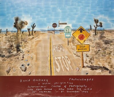 After David Hockney, 'A poster for David Hockney: Photocollages', 1986