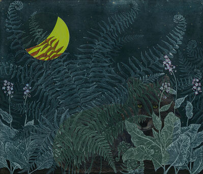 Julia Lucey, 'Wolf in Pacific Hound's Tongue and Sword Fern', 2020