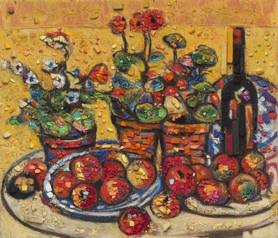 Vik Muniz, 'Metachrome (Fruit and Flowers, after Maurice Prendergast)', 2016
