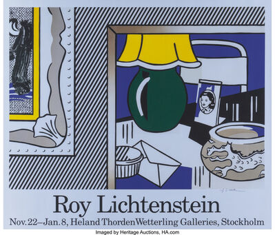Roy Lichtenstein, 'Mannheimer Kunstverein and Wetterling Galleries (two exhibition posters)', 1977
