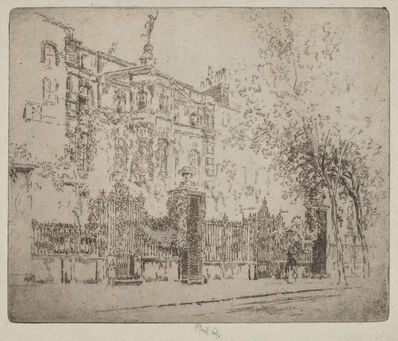 Joseph Pennell, 'Rossetti's House', 1906