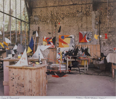 Pedro E. Guerrero, 'Alexander Calder's Paint Studio, Saché, France ', 1965