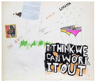 George Schneeman, 'Untitled (I Think We Can Work It Out)', ca. 1970