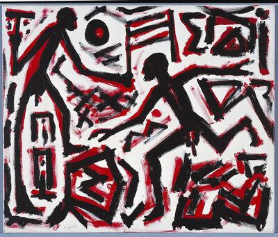A.R. Penck, 'Ankunft', 2001