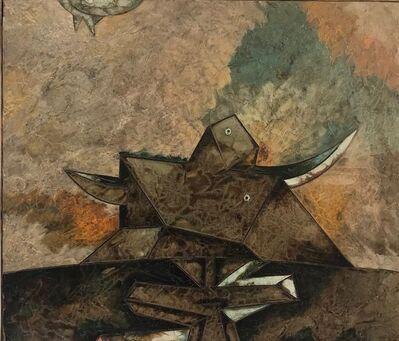 Gianni Dova, 'Toro dietro la palizzata', 1964