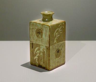 Tatsuzo Shimaoka, 'Mold-Pressed Bottle', ca. 1990