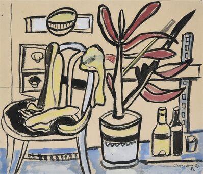 Fernand Léger, 'Une chaise, un pot de fleurs, deux bouteilles', 1951
