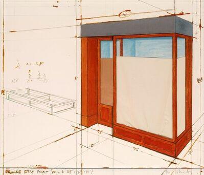 Christo, 'Orange Store Front', 1991