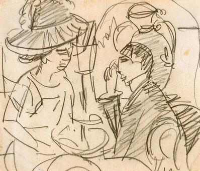 Ernst Ludwig Kirchner, 'Caféhausszene', ca. 1912