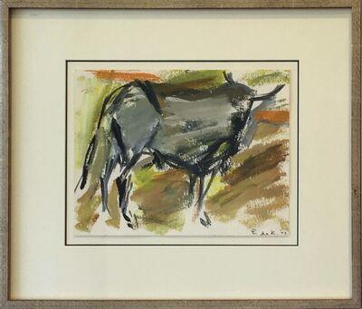 Elaine de Kooning, 'Untitled Bull 73', 1973