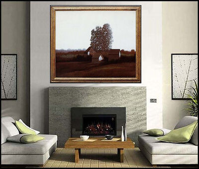 Robert Kipniss, 'Robert Kipniss Large Original Oil Painting On Canvas Signed Barn Landscape Art', 20th Century