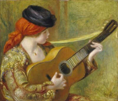 Pierre-Auguste Renoir, 'Young Spanish Woman with a Guitar', 1898