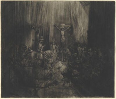 Rembrandt van Rijn, 'Christ Crucified between the Two Thieves (The Three Crosses)', 1653