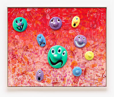 Kenny Scharf, 'Face Facts #7', 2014