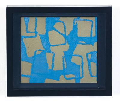Chiyu Uemae, 'Gray & Light Blue ', ca. 1960
