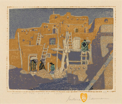 Gustave Baumann, 'Night of the Fiesta, Taos', 1924