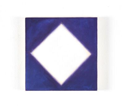 Peter Lodato, 'White Diamond on Blue', 2017