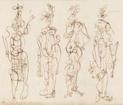 Joan Miró, '4 personnages ', ca. 1970