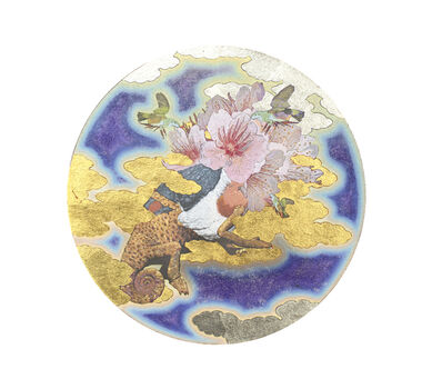 Masatake Kozaki, 'SAKURAKAMEREONAOBATO (Sakura-Chameleon-White-bellied green pig)', 2020