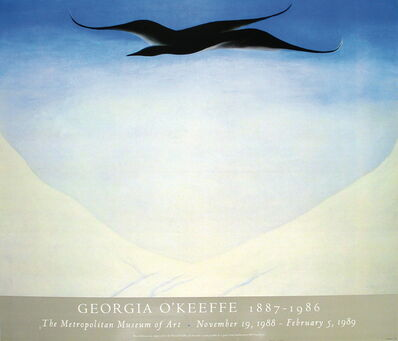 Georgia O'Keeffe, 'A Black Bird With Snow-Covered Red Hills', ca. 1989